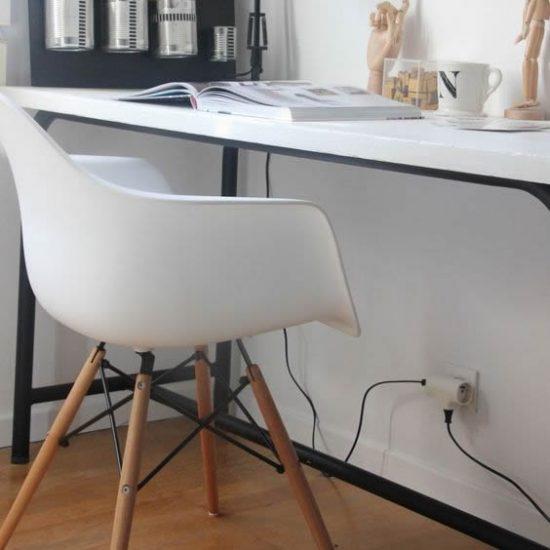 10012-Silla Réplica Eames Armchair Blanca