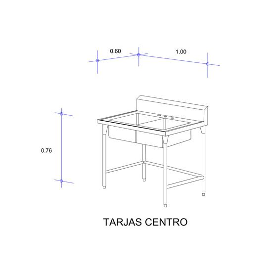 5553_Fregadero con Doble Tarja para Cristalería Mod