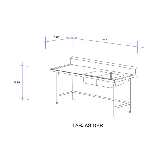 5555_Fregadero con Doble Tarja para Cristalería Mod