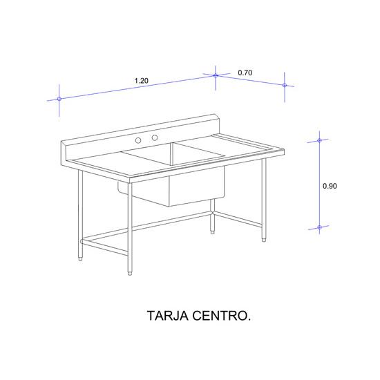 5564_Fregadero con Una Tarja para Ollas Mod. FOSC-120-tarja centro