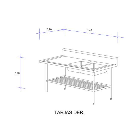 6320_Fregadero con Doble Tarja para Loza Mod
